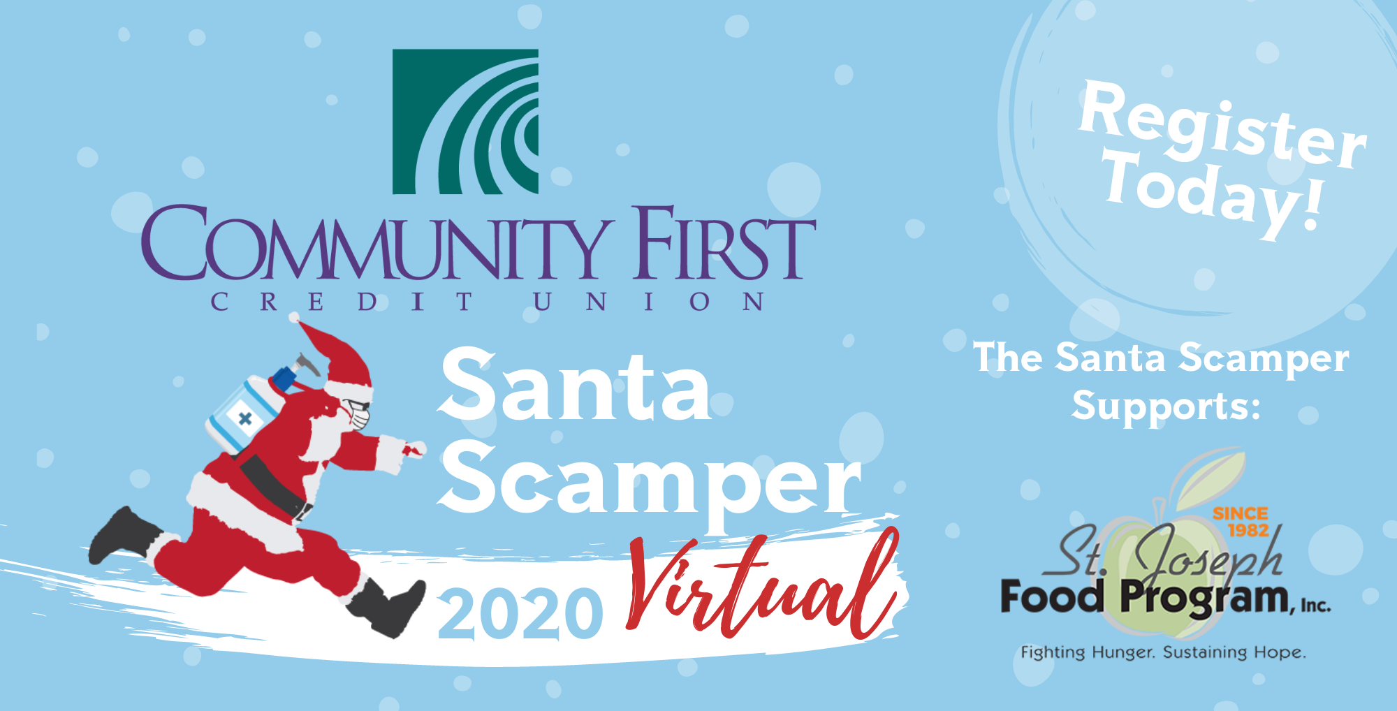 Virtual Santa Scamper Logo